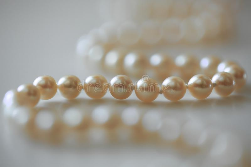 String Of Pearls Stock Image Image Of Necklace Shimmery