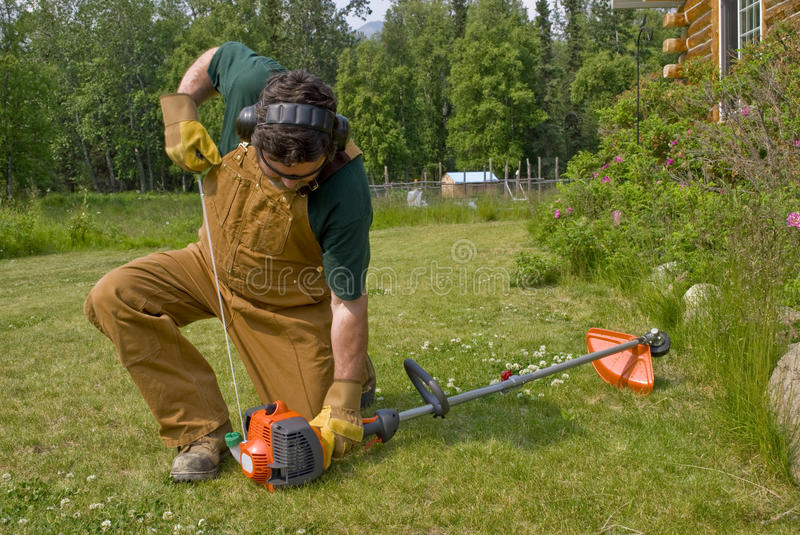 String Trimmer - Starting stock photo