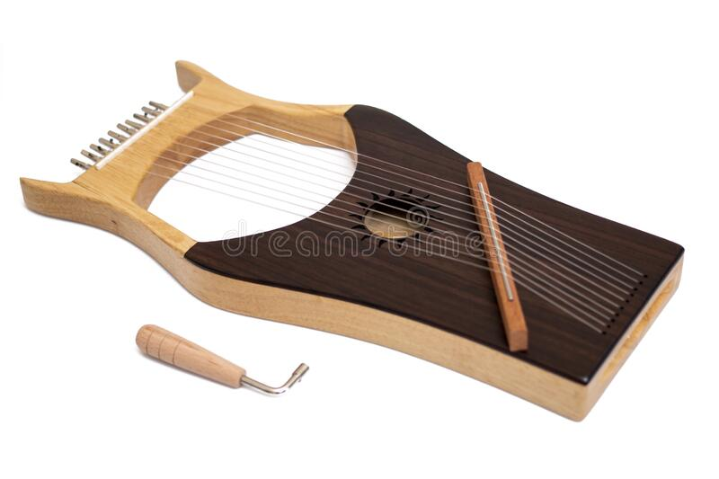 Stringed lyre musical instrument royalty free stock images