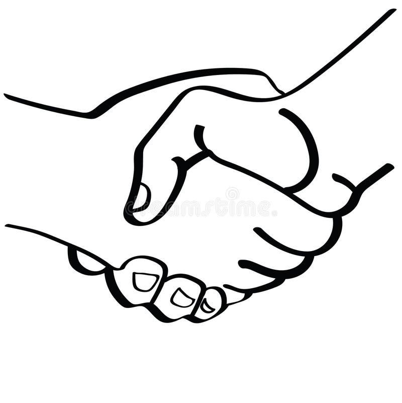 Stringere l'illustrazione delle mani dai crafteroks royalty illustrazione gratis