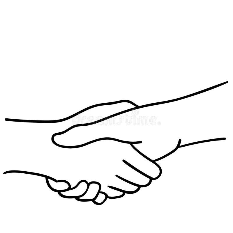 Stringere l'illustrazione delle mani dai crafteroks illustrazione vettoriale