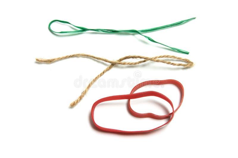 Stringhe e Rubberbands fotografia stock