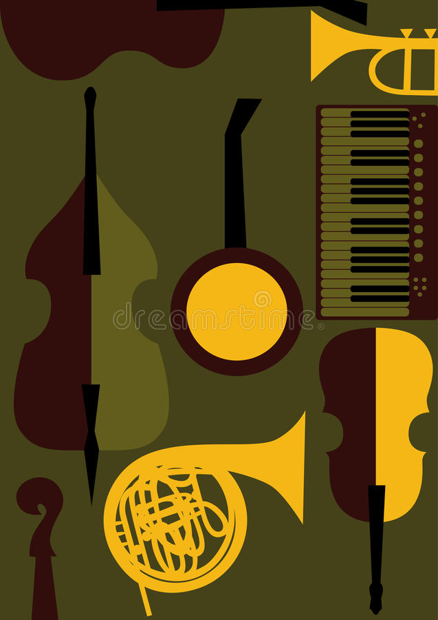 Download Strings, Keyboards, Wind  Music Instruments Stock Vector - Illustration of cello, strings: 27429574