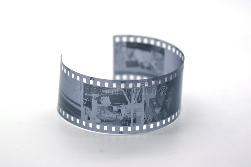35 mm black and white film stock photography