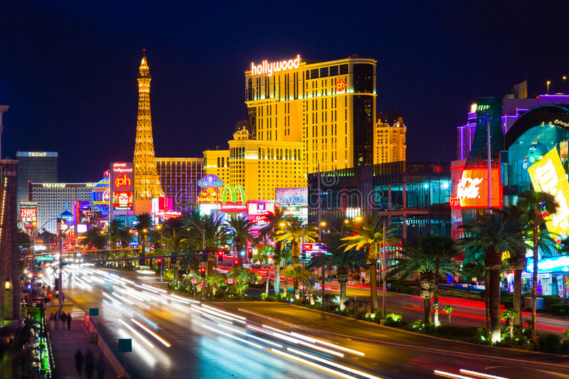 The Strip in Las Vegas stock image