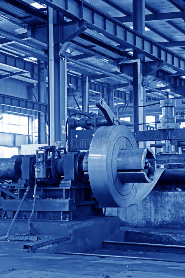 Strip And Mechanical Equipment In A Factory Stock Photography