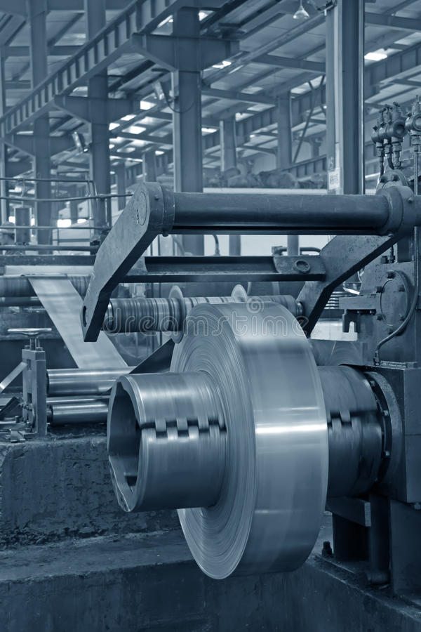 Download Strip And Mechanical Equipment In A Factory Stock Image - Image: 28478857