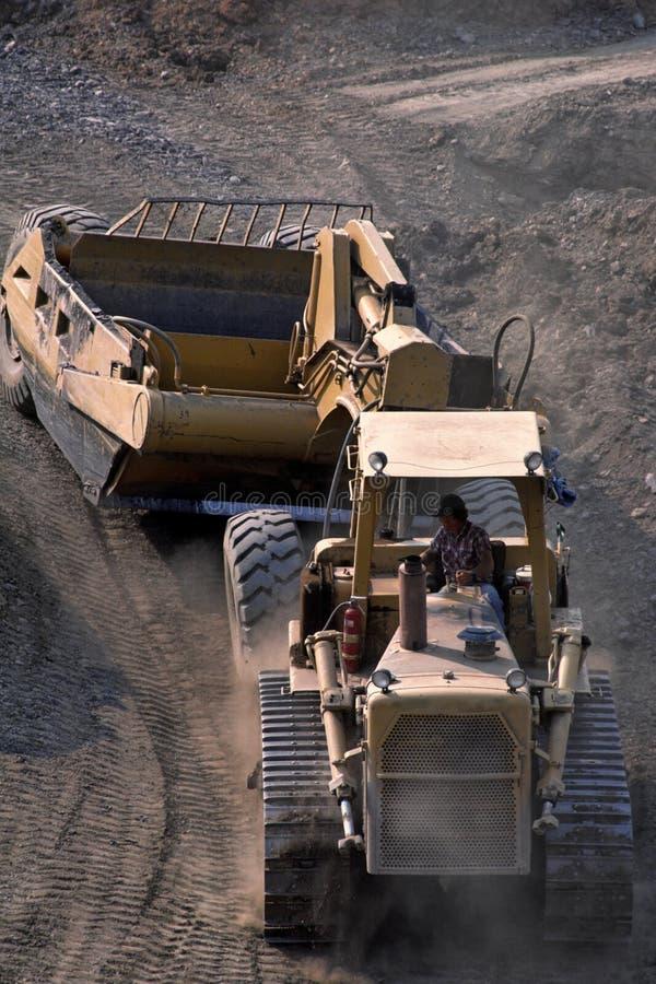 Strip mining coal stock image