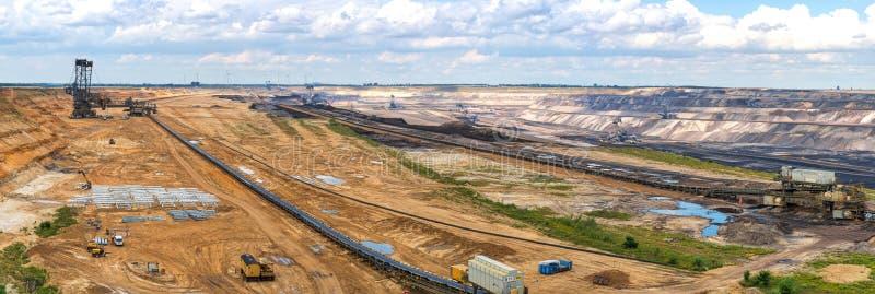 Strip mining stock photography
