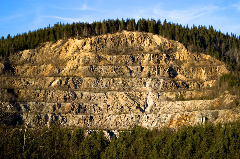 Download Strip Mining on a Hillside stock image. Image of hauling - 1927593