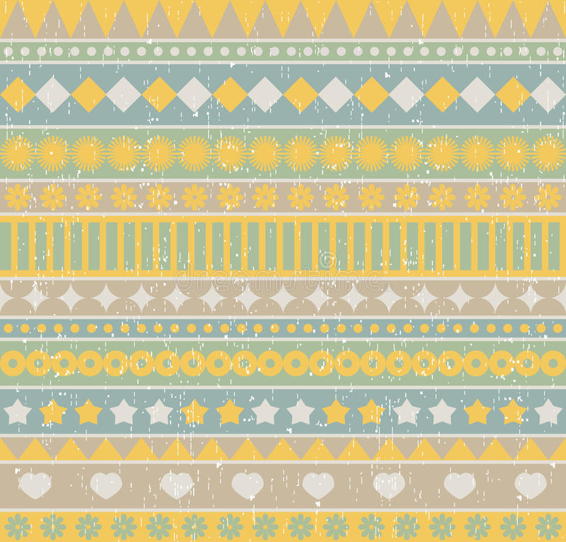 Strip seamless pattern. Vector background in retro style royalty free illustration