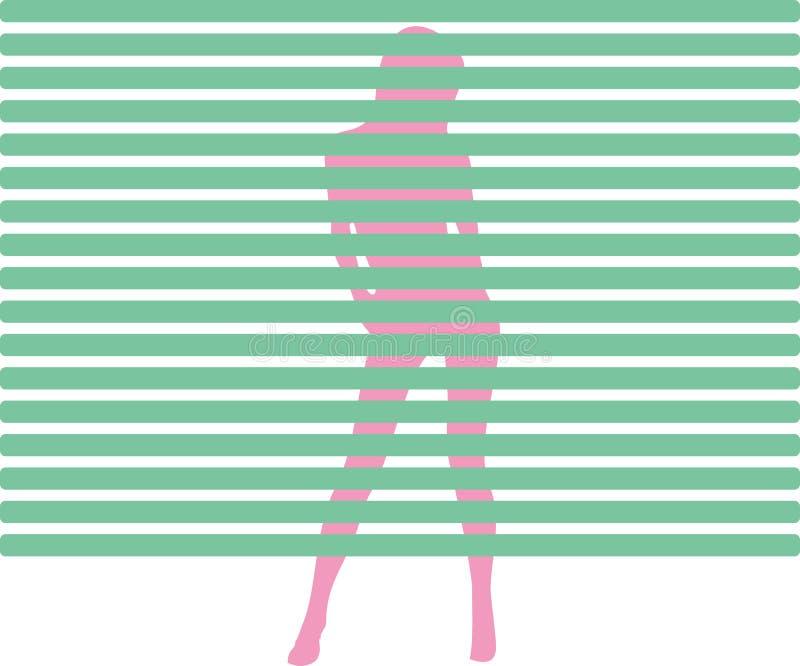 Download Strip tease stock illustration. Image of blind, white - 9777801