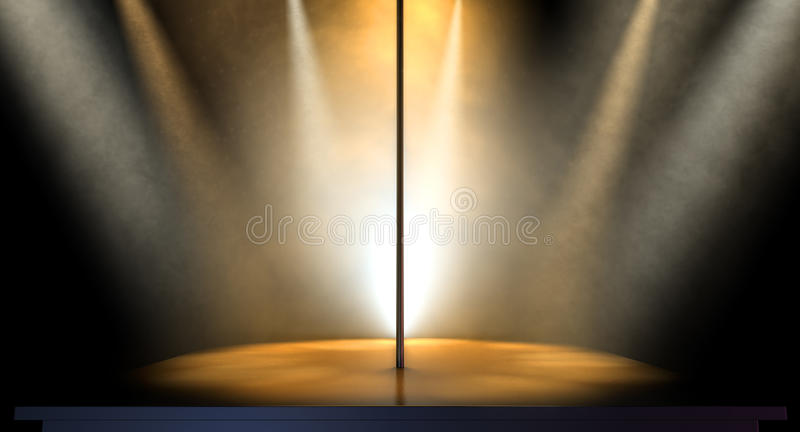 Strip-teaseuse Pole Spotlit images stock