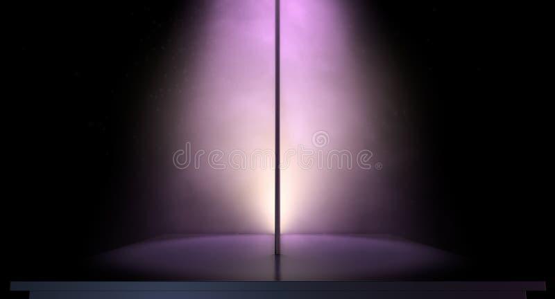 Strip-teaseuse Pole Spotlit images libres de droits