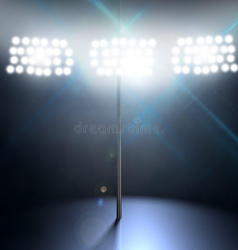 Strip-teaseuse Pole Spotlit image libre de droits