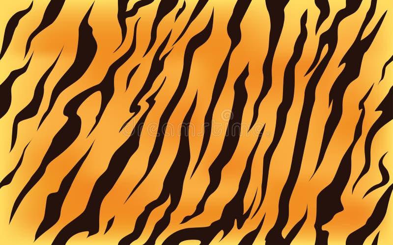 Stripe animals jungle tiger fur texture pattern seamless repeating orange yellow black royalty free illustration