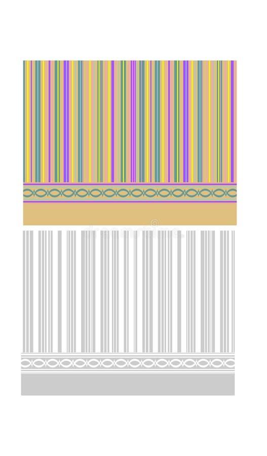 Stripe background border stock illustration
