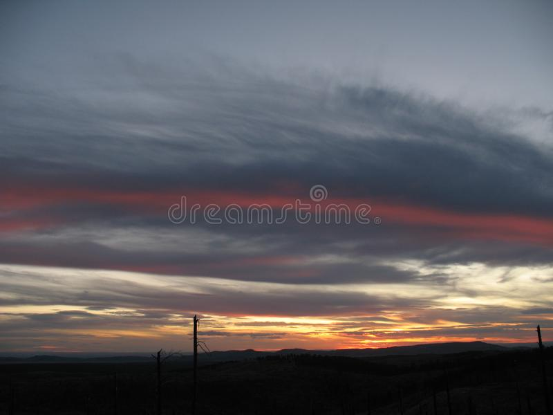 Download Stripe In Clouds During Sunset Stock Image - Image of clouds, nature: 8928831