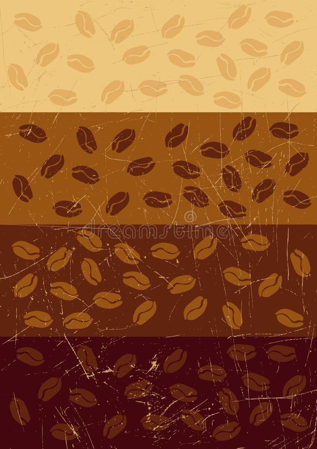 Download Stripe Retro Grunge Background With Coffee Beans Stock Vector - Illustration of fashion, color: 10315492