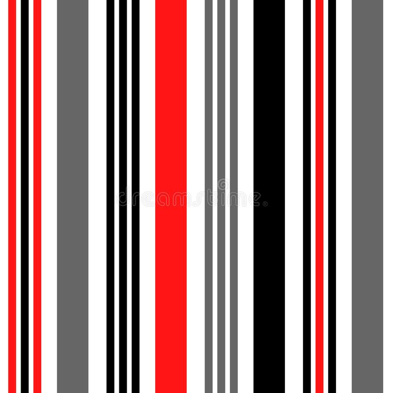 Stripe seamless pattern with orange,black and white vertical parallel stripes.Vector pattern stripe abstract background. eps10 stock illustration