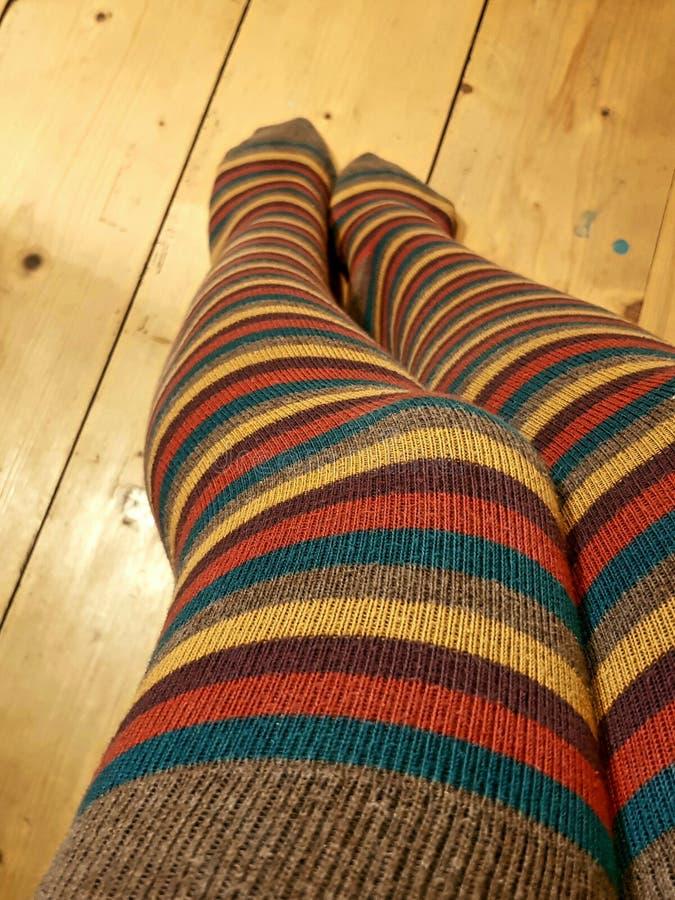 Stripe Socks royalty free stock photography