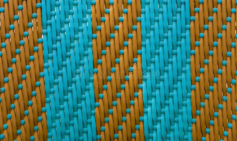 Striped бирюза weave с коричневым цветом стоковое фото