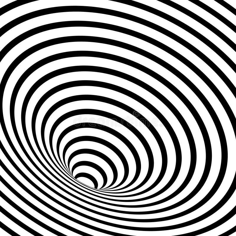 striped геометрическая спираль иллюстрация штока