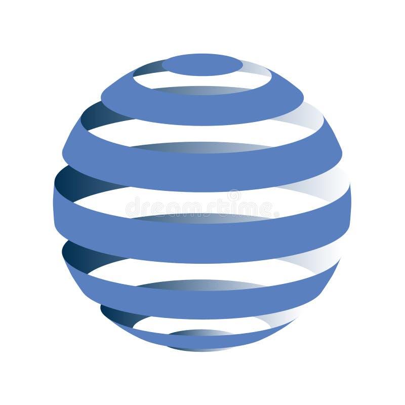 Striped глобус Круглый абстрактный знак вектора круга бесплатная иллюстрация