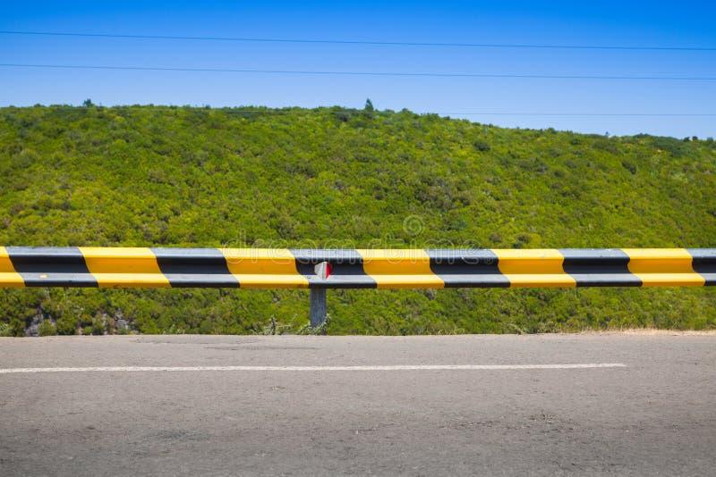 Striped желтый черный барьер движения стоковая фотография