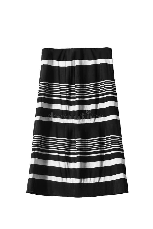 Striped изолированная юбка стоковое фото