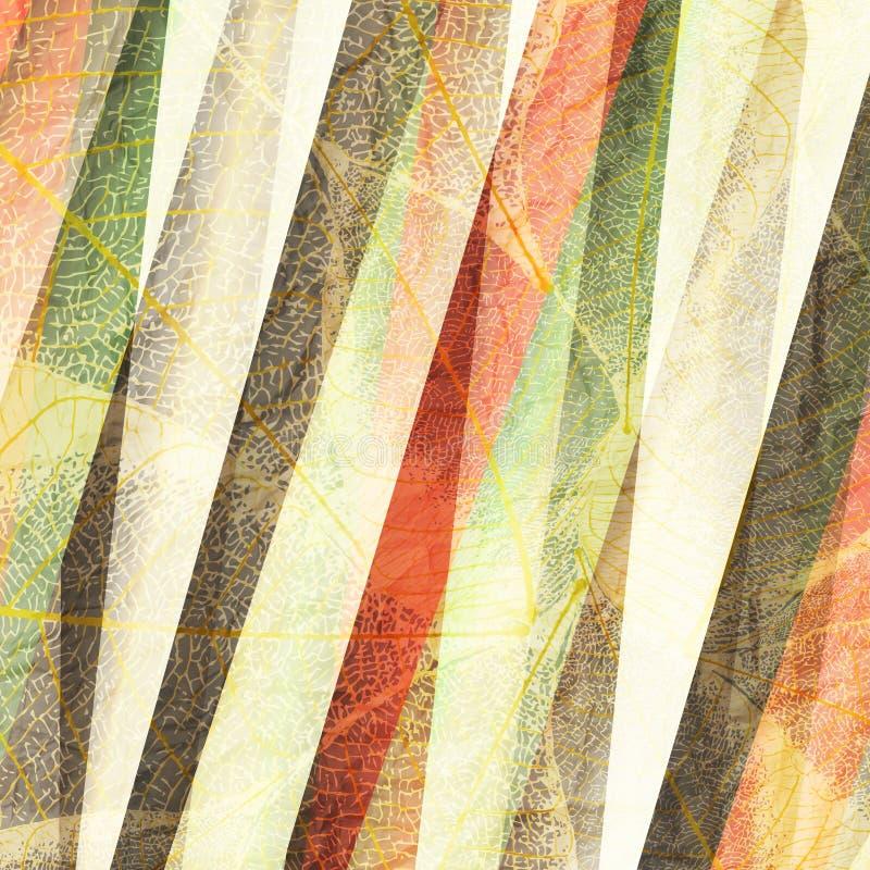 striped листья бесплатная иллюстрация