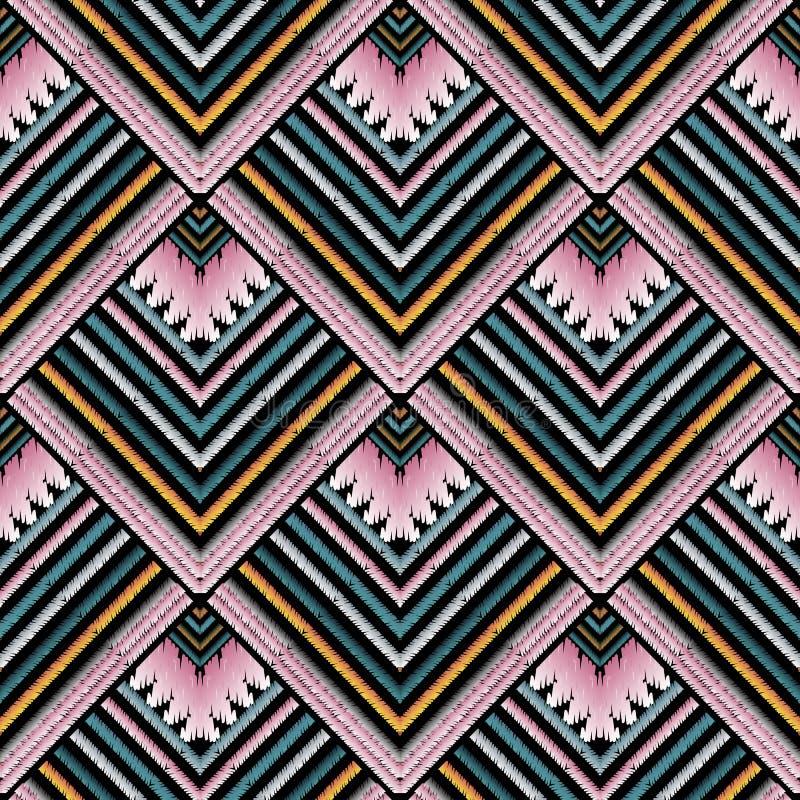 Striped картина вектора вышивки безшовная Stri гобелена Grunge иллюстрация вектора