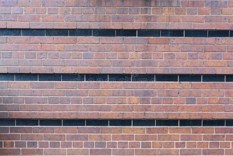 Striped кирпичная стена стоковая фотография
