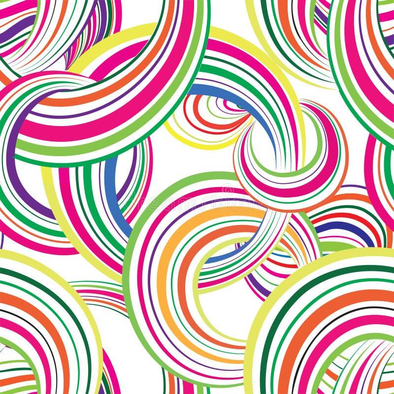 Striped конспектом картина multicolor круга безшовная иллюстрация конструкции пузыря предпосылки ваша круги иллюстрация штока