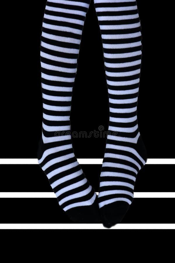 striped носки стоковые изображения rf