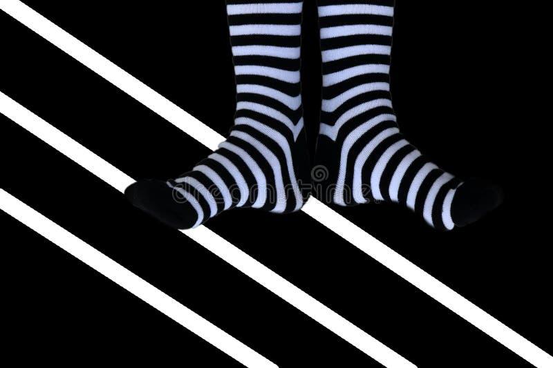 striped носки стоковая фотография rf