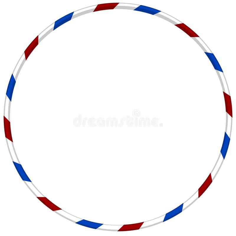 Striped обруч Hula с голубым и красным цветом бесплатная иллюстрация