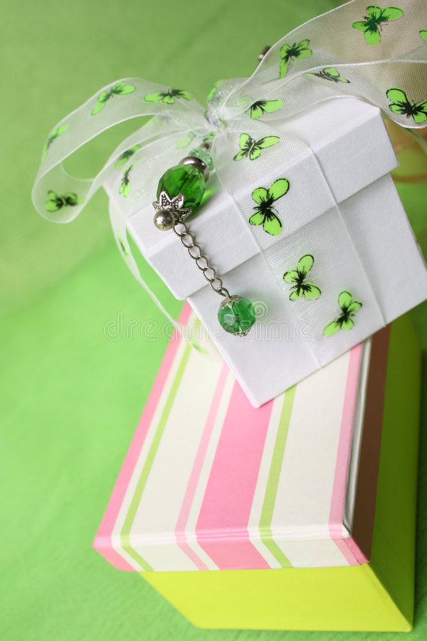 striped подарок коробки стоковая фотография