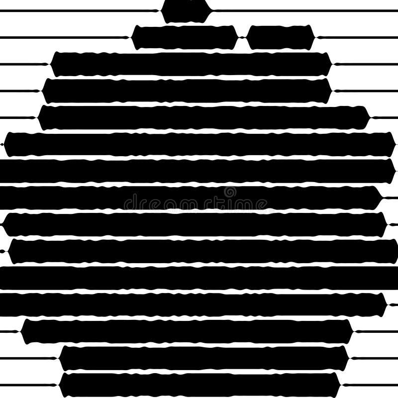 Striped предпосылка, абстрактная картина вектор графической иллюстрации элемента безшовный бесплатная иллюстрация