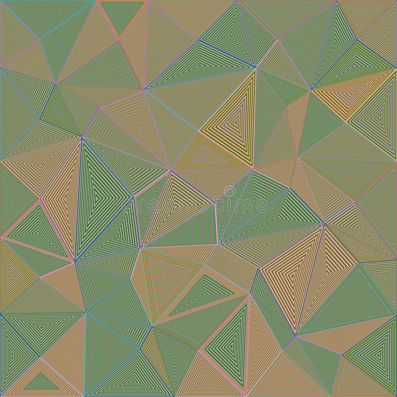 Striped предпосылка мозаики головоломки треугольника иллюстрация штока