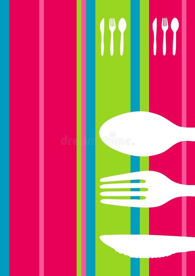 striped ретро меню конструкции иллюстрация штока