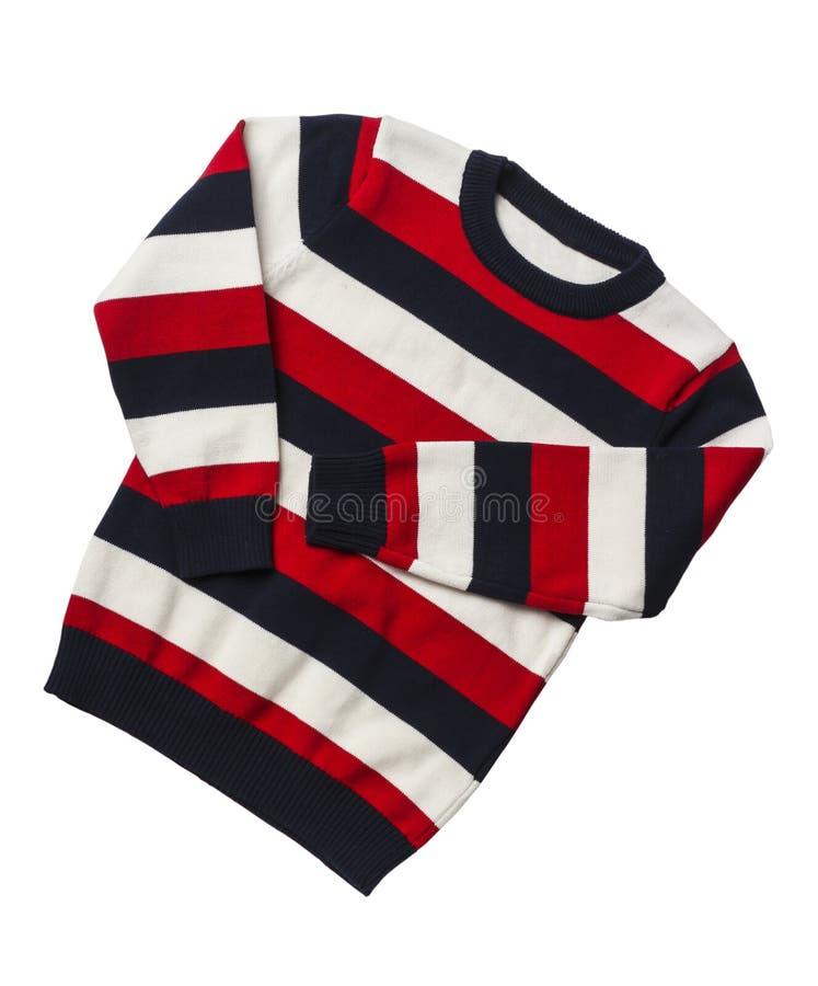 Striped связал свитер стоковая фотография rf