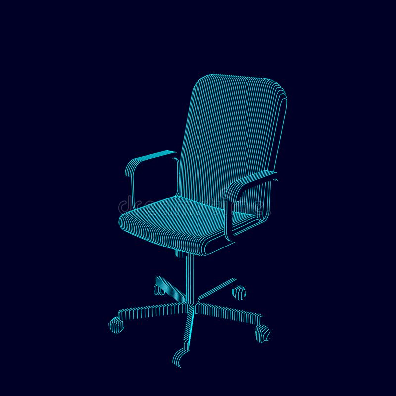 Striped стул офиса иллюстрация контура вектора иллюстрация вектора