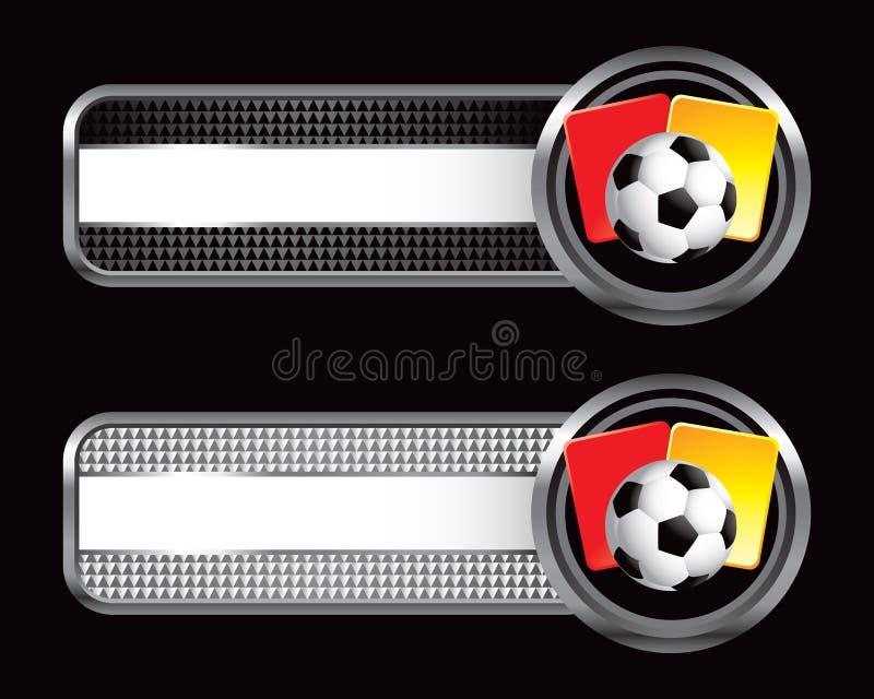 striped футбол штрафа карточек знамен шарика иллюстрация вектора