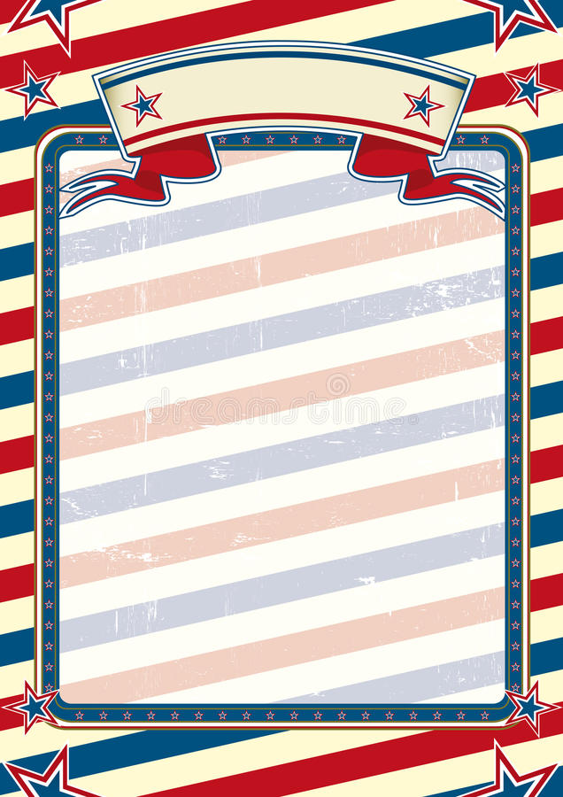 Striped american poster royalty free stock photo