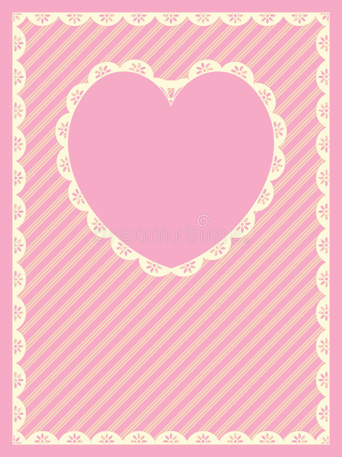 Download Striped Background With Heart Shaped Copy Space An Stock Vector - Image: 12725036