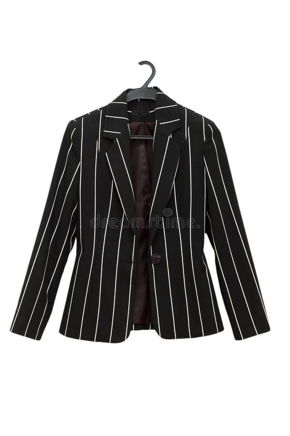 Striped black jacket isolated royalty free stock photography