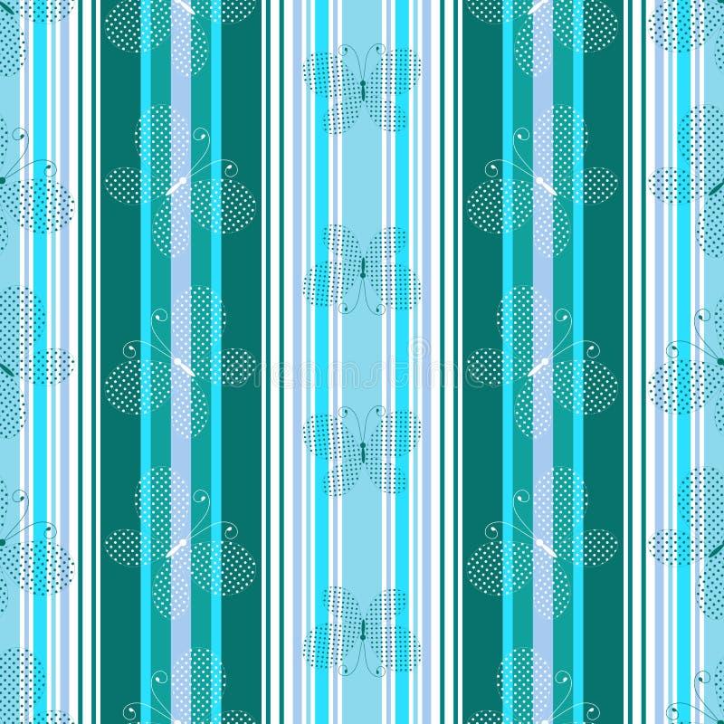 Striped blue pattern stock image