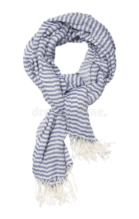 Download Striped blue scarf stock photo. Image of autumn, multi - 10585868