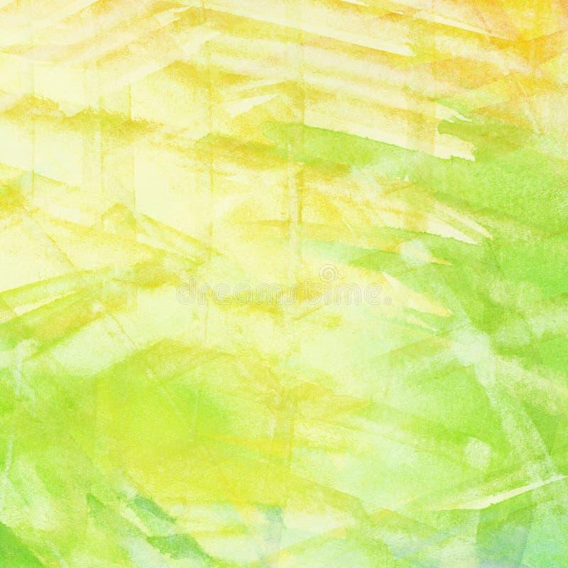 Striped bright watercolor background stock illustration